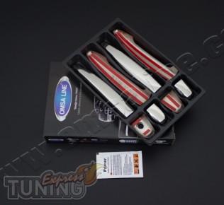 Оригинальные хромированные накладки на дверные ручки Toyota Prad