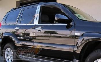 Хром накладки на дверные стойки Тойота Прадо 120 (хромированные