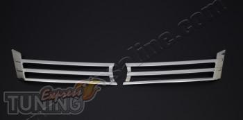 Хромированные накладки на радиаторную решетку Фольксваген Кадди