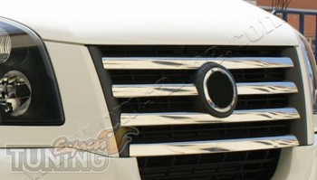 Хром накладки на решетку радиатора Volkswagen Crafter (хром накл