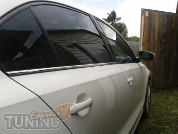 Хромированные молдинги боковых стекол Volkswagen Jetta 6 (устано
