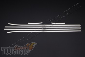 Хром накладки на молдинги стекол Фольксваген Поло 5 (установка х