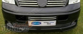 Хромированные накладки на передний бампер Volkswagen Transporter