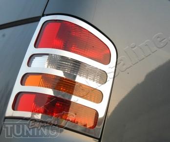 Хромированные накладки на стопы Фольксваген Транспортер Т5 (хром