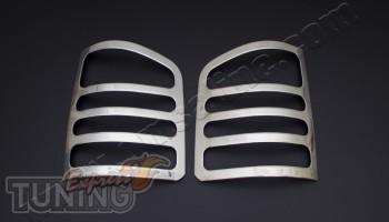 Хромированные окантовки на стопы Volkswagen Transporter T5+ (хро