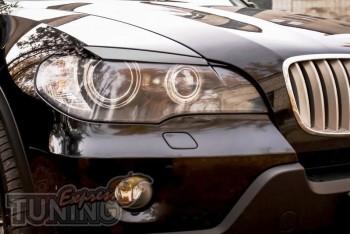 Купить реснички на фары Bmw X5 E70 (передние накладки Lumma)