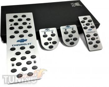 Накладки на педали Шевроле Авео Т250 МКПП (накладки педалей Chev