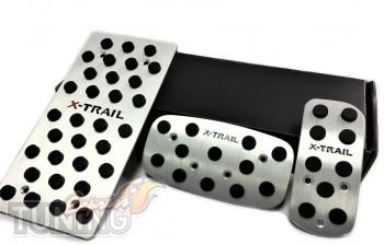 Пластины на педали Ниссан Икс-Трейл Т31 автомат (алюминиевые пла