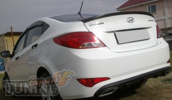 Лип спойлер Hyundai Accent седан (установка)