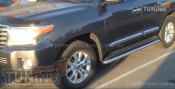 защита порогов Toyota Land Cruiser 200