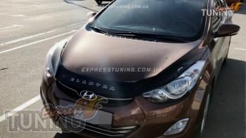 мухобойка на капот Hyundai Elantra 5 MD