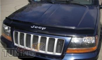 Дефлектор капота Джип Гранд Чероки WJ (мухобойка на капот Jeep G