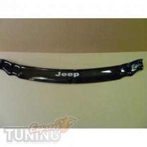 Дефлектор капота Джип Гранд Чероки WK (мухобойка на капот Jeep G