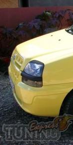 Реснички на фары Fiat Doblo 1 (накладки фар Фиат Добло 1)