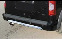 Хром накладка на кромку заднего бампера Форд Коннект с 2010 года
