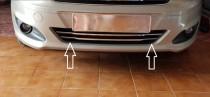 Хром накладки на передний бампер Форд Курьер 2