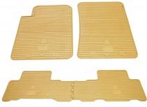 Бежевые коврики SsangYong Rexton 2 полный комплект