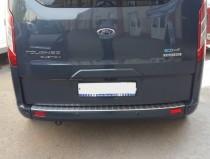 Накладка на задний бампер Форд Транзит Кастом