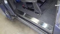 Накладки на внутренние пороги Форд Транзин Кастом