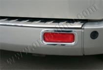 Хром окантовка задних рефлекторов Форд Транзит Кастом