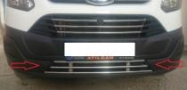 Цельная нижняя хромированная решетка Форд Транзит Кастом