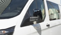 Черные накладки на зеркала Ford Transit Custom пластик