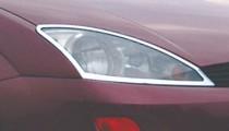 Хром накладки на передние фары Форд Фокус 1