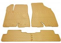 Бежевые коврики салона Toyota Highlander 3 премиум дизайн