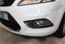 Хром накладки на противотуманные фары Форд Фокус 2