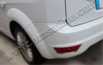 Хром накладки на задние рефлекторы Форд Фокус 2 (катафоты)
