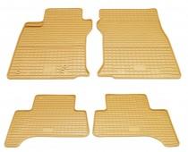 Бежевые коврики для Toyota Prado 120 комплект 4шт