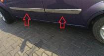 Хромированные молдинги на двери Форд Фиеста 5