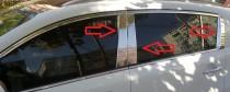 Хромированные молдинги на дверные стойки Форд Фиеста 6