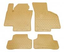 Бежевые коврики для Volkswagen Passat B7 полный комплект