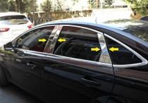 Omsa Line Хромированные молдинги дверных стоек Форд Мондео 4