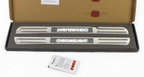 Накладки на пороги с подсветкой Форд Ренджер 3 Т6 комплект