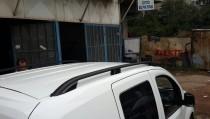 Черные рейлинги на крышу Ситроен Джампи 2 модель Crown