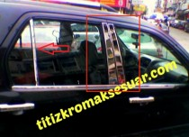 Хромированные молдинги дверных стоек Хонда СРВ 2