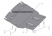 Защита подушки двигателя и выхлопной Пежо 208