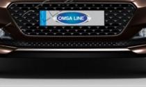 Хром накладка на решетку бампера Hyundai i20 GB