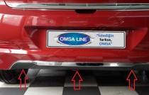 Хром накладка заднего бампера Hyundai i20 GB
