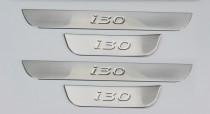 Защитные накладки порогов Хендай Ай30 2 поколение