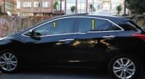 Хромированные верхние молдинги стекол Hyundai i30 GD