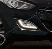 Хром накладки на противотуманные фары Hyundai i30 GD