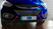 Хром окантовка решетки радиатора Hyundai ix35