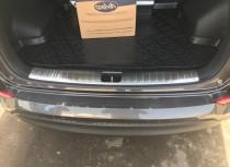 Хром накладка на порог багажника Хендай Туксон 3 ТЛ