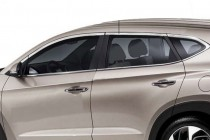 Хромированные верхние молдинги стекол Hyundai Tucson 3 TL