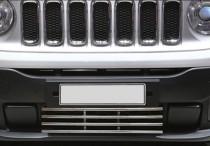 Хромированная решетка в бампер Jeep Renegade BU