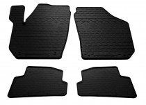 Резиновые коврики Skoda Fabia 2 (автомобильные коврики Шкода Фабия 2)