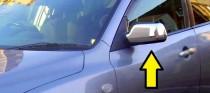 Хром накладки на зеркала Мазда 3 ВК